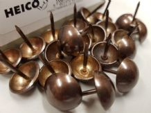 50 French Natural 16mm upholstery nails large tacks Heico H16 furniture studs